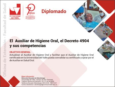 El Auxiliar de Higiene Oral, el Decreto 4904 y sus competencias